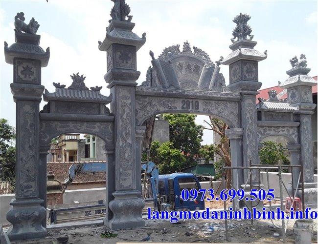 Mẫu cổng bằng đá đẹp thiết kế hiện đại bán tại Hải Phòng