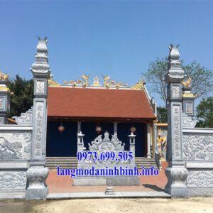 Mẫu cổng đá nhà thờ họ đẹp nhất hiện nay tại Vĩnh Phúc