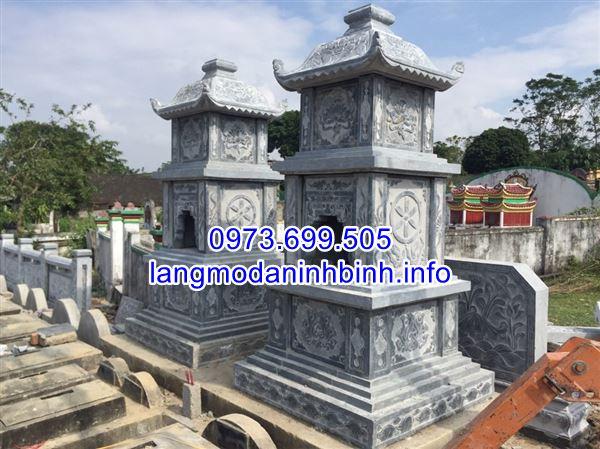 Mẫu tháp mộ đẹp bằng đá để thờ hũ tro cốt tại Bạc Liêu