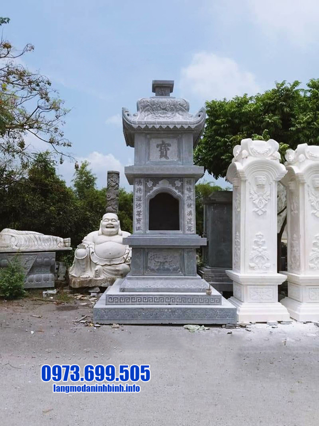 Mẫu tháp mộ đẹp để hũ tro cốt tại Bạc Liêu