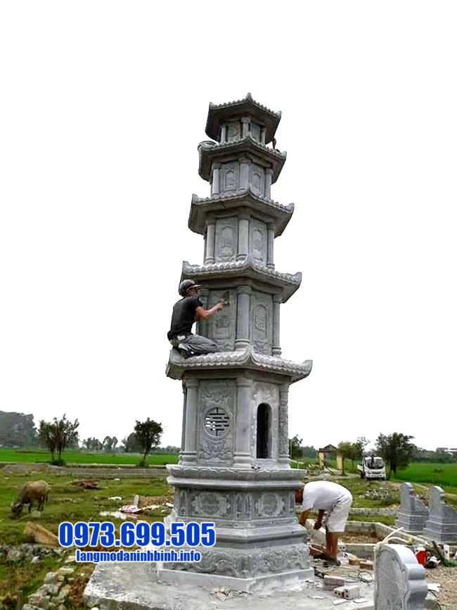 Tháp đẹp để hũ tro cốt tại Bạc Liêu