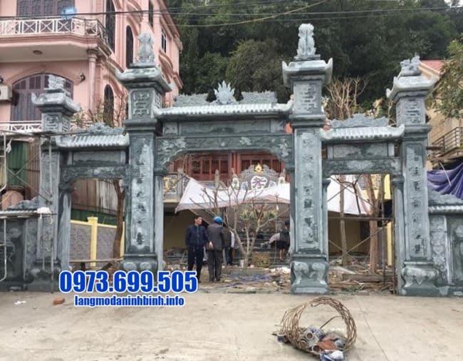 cổng tam quan bằng đá đẹp nhất tại Hà Nam