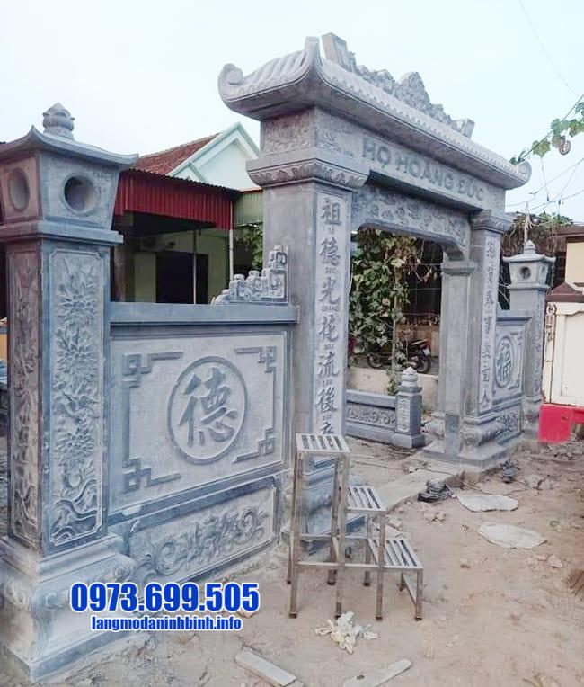 cổng tam quan bằng đá đẹp nhất tại Hưng Yên