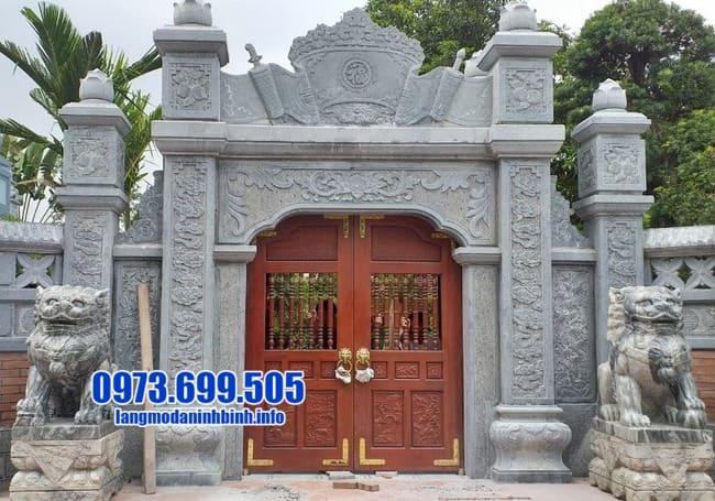 cổng tam quan bằng đá đẹp nhất tại Thái Bình