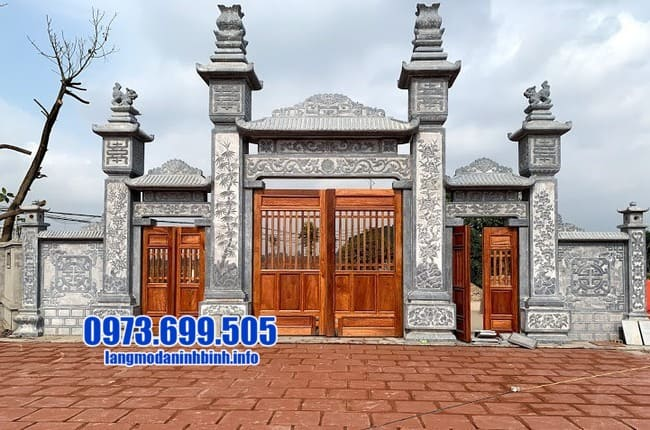 cổng tam quan bằng đá đẹp tại Bắc Ninh