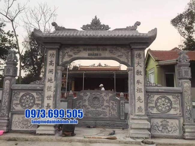 cổng tam quan bằng đá tại Quảng Ninh đẹp nhất