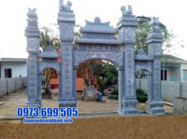 cổng tam quan đá tại Quảng Ninh đẹp nhất