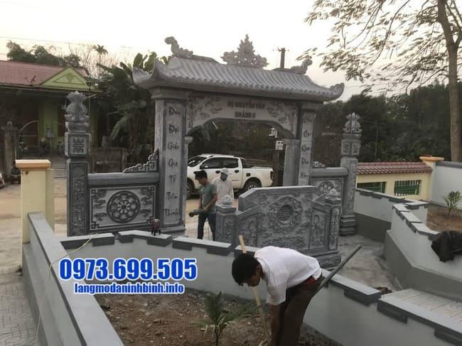 mẫu cổng đá đẹp tại Quảng Ninh