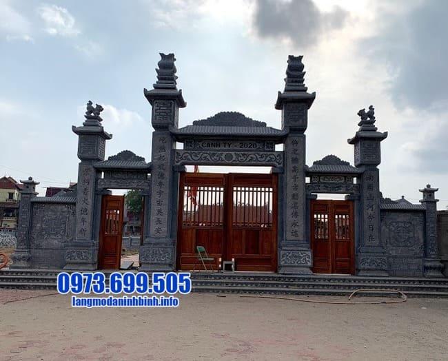 mẫu cổng tam quan bằng đá đẹp nhất tại Bắc Ninh