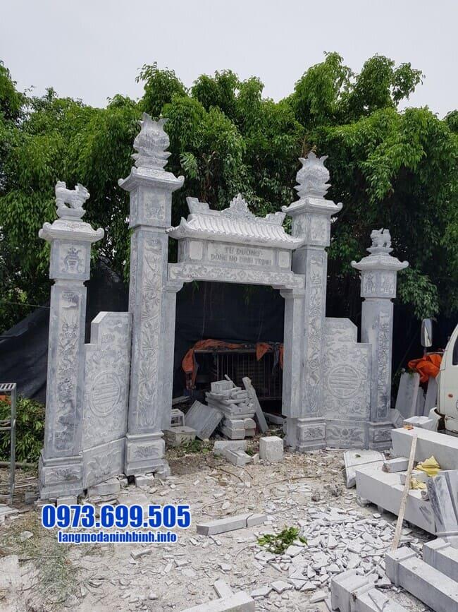 mẫu cổng tam quan bằng đá đẹp nhất tại Quảng Ninh