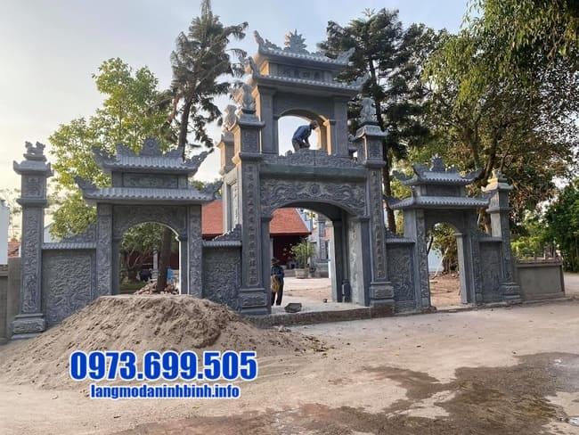 mẫu cổng tam quan bằng đá đẹp tại Hưng Yên