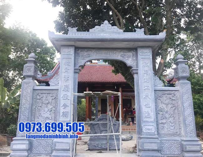 mẫu cổng tam quan bằng đá đẹp tại Quảng Ninh