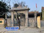 mẫu cổng tam quan bằng đá đẹp tại Thái Bình