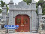 mẫu cổng tam quan bằng đá tại Hà Nam