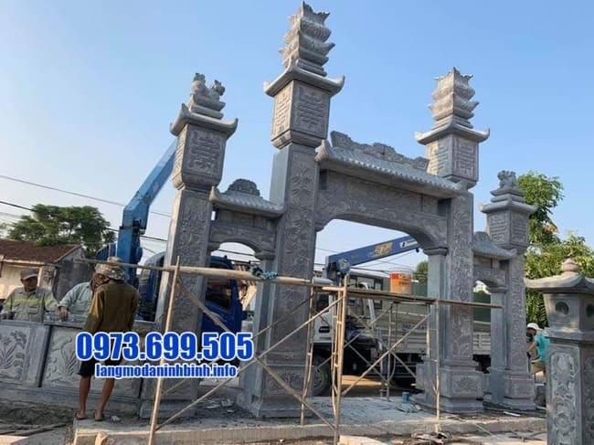 mẫu cổng tam quan bằng đá tại Quảng Ninh