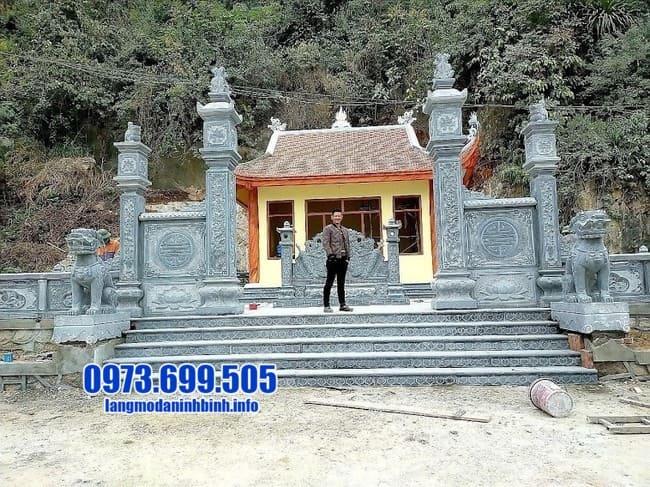mẫu cổng tam quan đá đẹp nhất tại Hà Nam