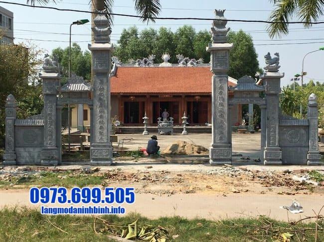 mẫu cổng tam quan đá đẹp nhất tại Quảng Ninh