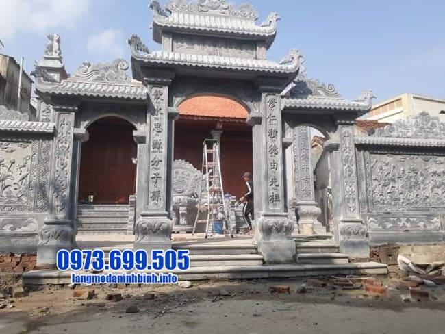 mẫu cổng tam quan đá đẹp nhất tại Thái Bình