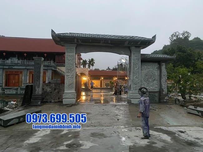 mẫu cổng tam quan đá đẹp tại Bắc Ninh