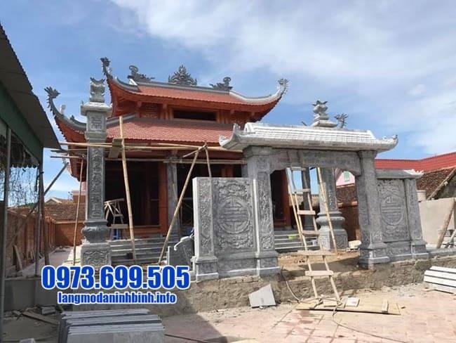 mẫu cổng tam quan đá đẹp tại Quảng Ninh