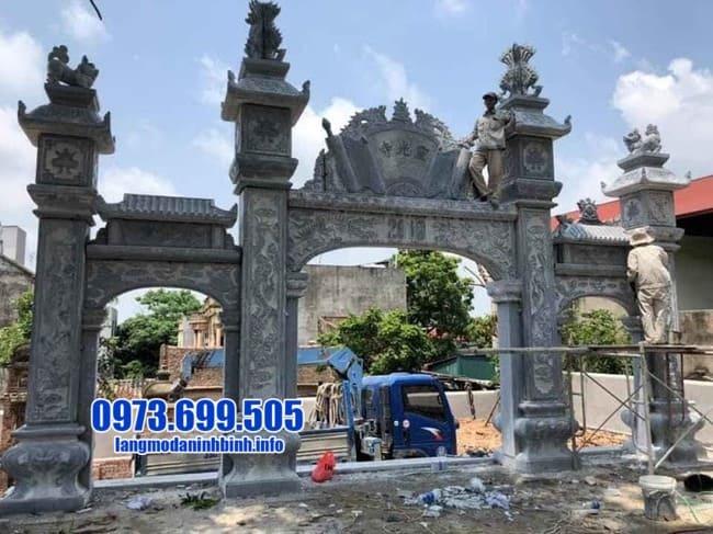 mẫu cổng tam quan đá tại Bắc Ninh