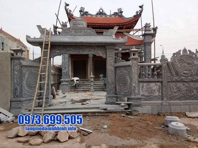 mẫu cổng tam quan đá tại Quảng Ninh
