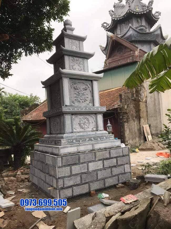 mẫu mộ đá hình tháp tại An Giang đẹp nhất