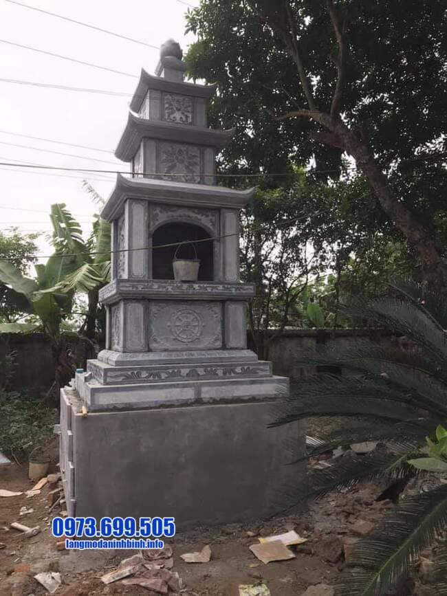 mẫu mộ đá hình tháp tại An Giang đẹp