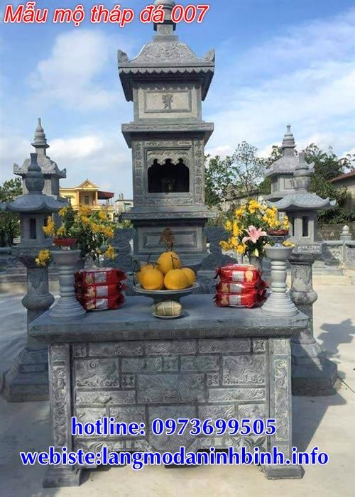 mẫu tháp mộ bằng đá để thờ hũ tro cốt tại An Giang