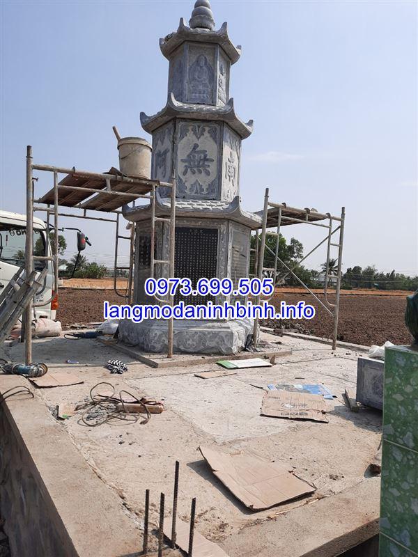 mẫu tháp mộ đá đẹp để thờ hũ tro cốt tại Bạc Liêu