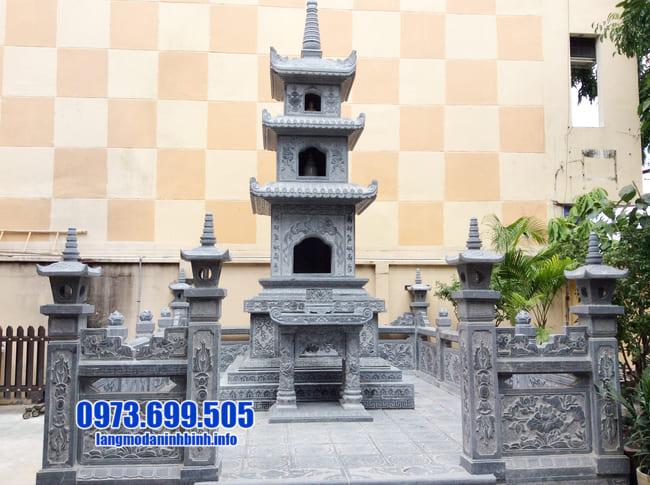 mộ đá hình tháp tại An Giang