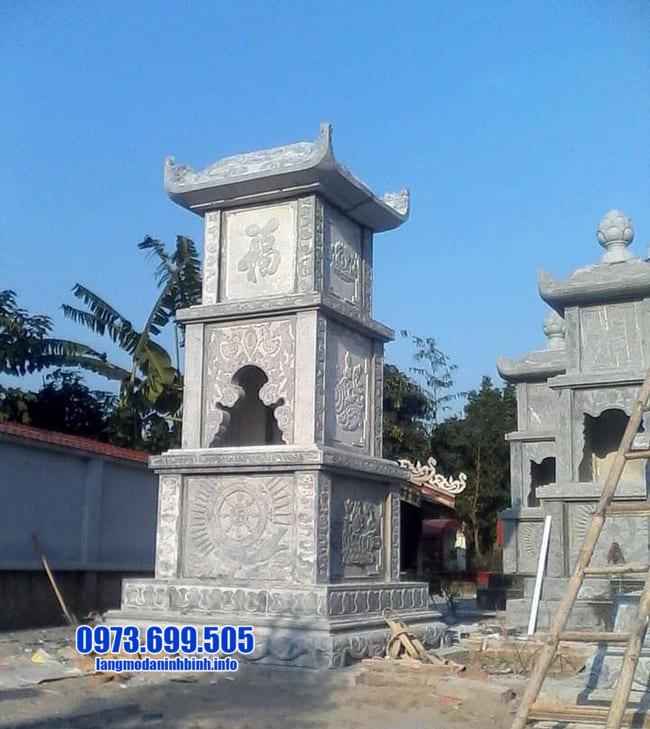 mộ tháp bằng đá tại An Giang đẹp