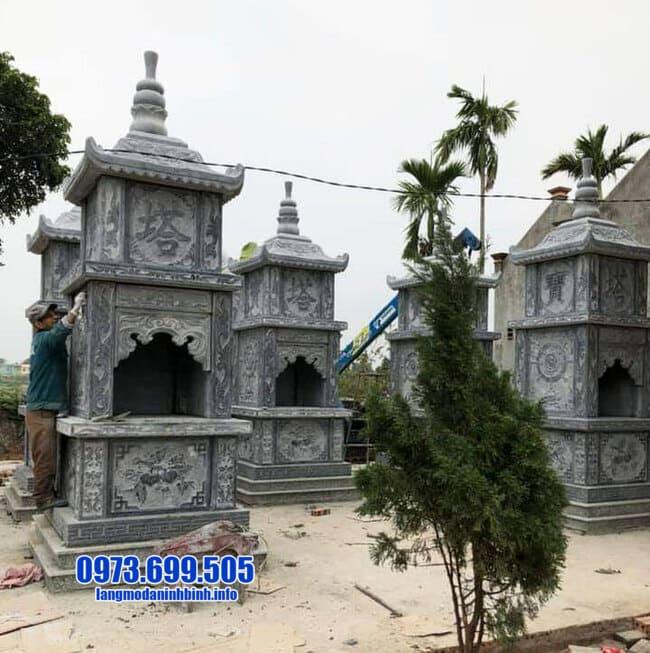 mộ tháp bằng đá tại An Giang