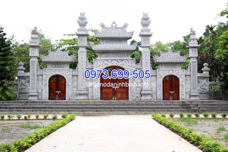 Mẫu cổng đình làng bằng đá đẹp năm 2021