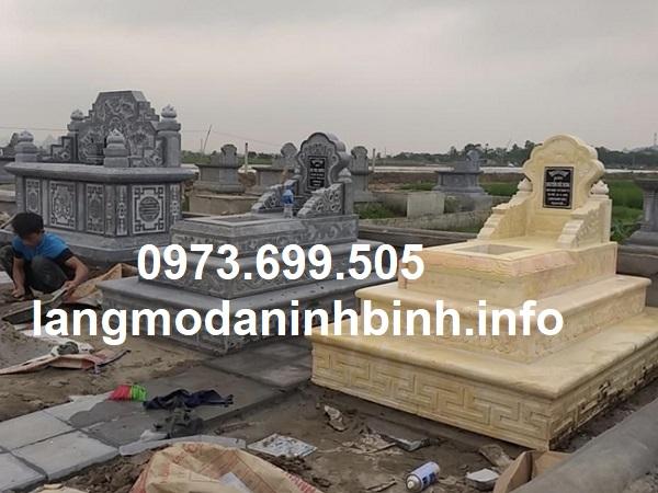 Mẫu mộ tam cấp đẹp bằng đá