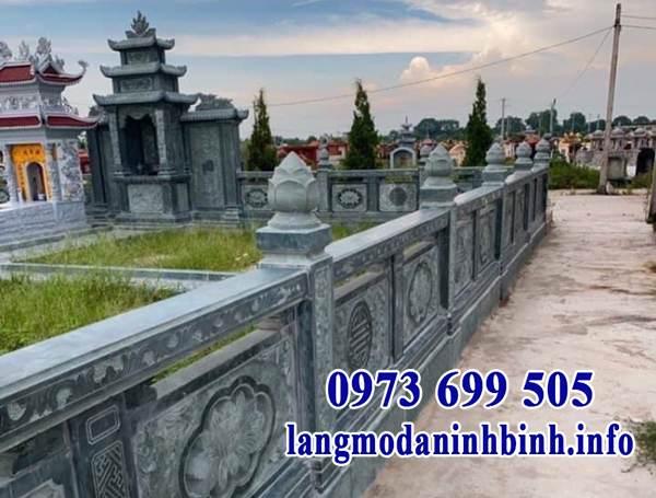 Mẫu hàng rào đá khu lăng mộ