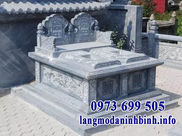 Mẫu mộ đôi đá đơn giản, đẹp