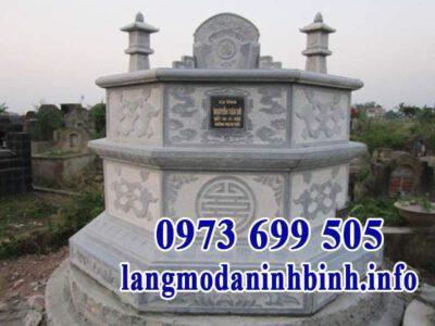 Mẫu mộ lục giác bằng đá đẹp