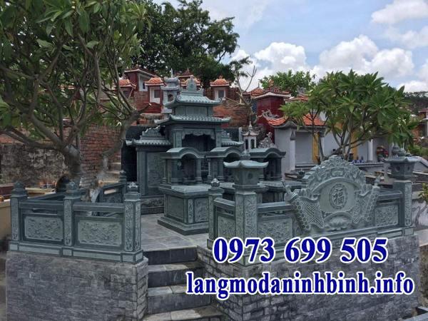 Thiết kế khu lăng mộ gia đình bằng đá đẹp