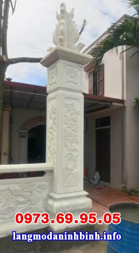 Mẫu cột đá trắng đẹp