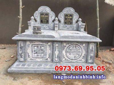 mẫu mộ đôi xây đẹp đơn giản, chuẩn phong thủy