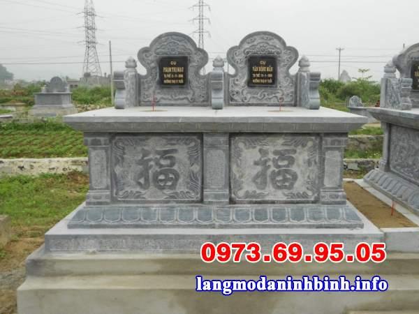 Mẫu mộ đôi xây đơn giản đẹp