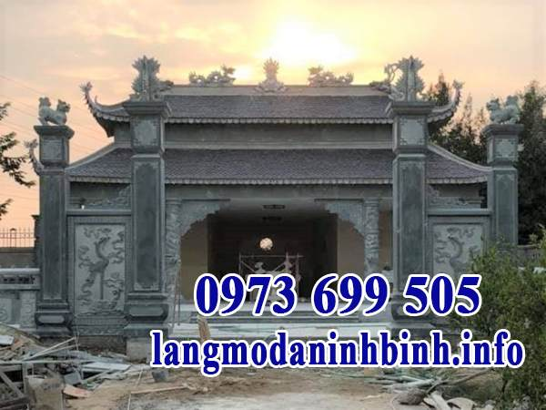 Mẫu cổng chùa đơn giản