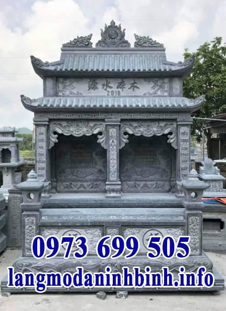 Đặc điểm của mộ đôi bằng đá khối