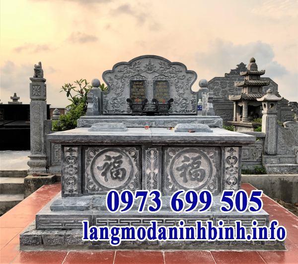 Mẫu mộ đá đôi đẹp thiết kế cao cấp chất lượng cao giá rẻ