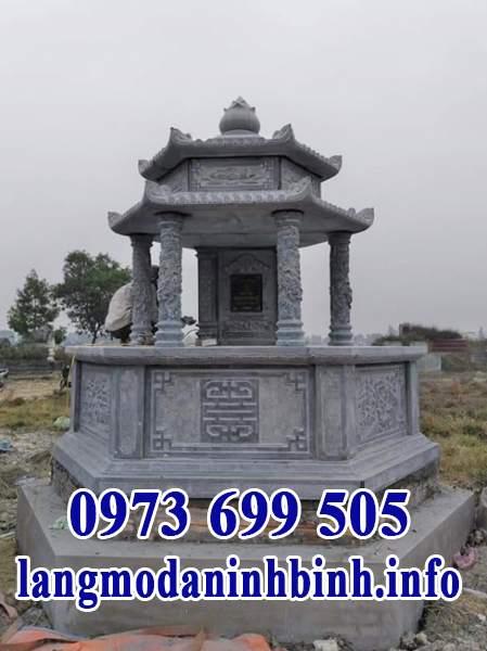 Mẫu mộ lục lăng bằng đá xanh
