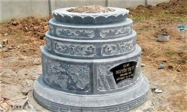 Mẫu mộ tròn bằng đá xanh đẹp