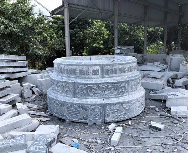 Mẫu mộ đá tròn phong thủy